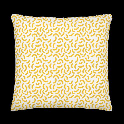 Crescent Pattern Yellow Premium Pillow