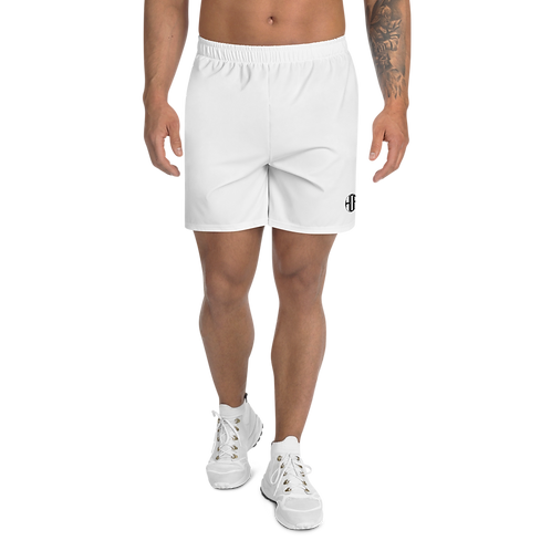 HAUS OF PASSION White Men's Athletic Long Shorts