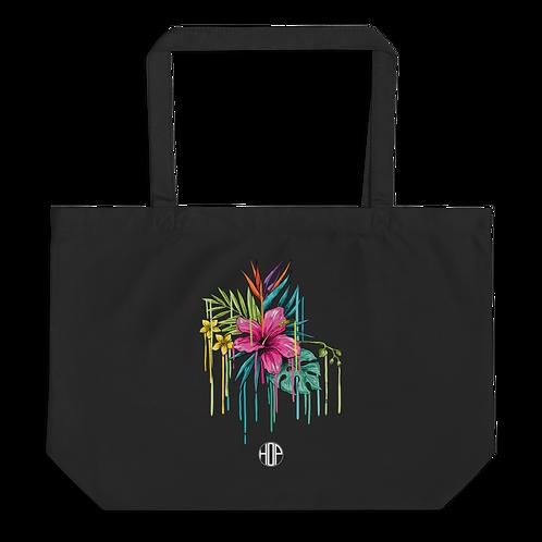 Pink Flower Large organic tote bag