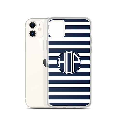 Club Thalassophile iPhone Case Navy/White
