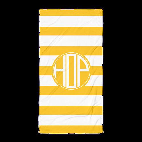 Yellow/White Striped Towel