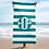 Thumbnail: Light Petrol White Striped Towel