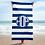 Thumbnail: Royal Blue White Striped Towel