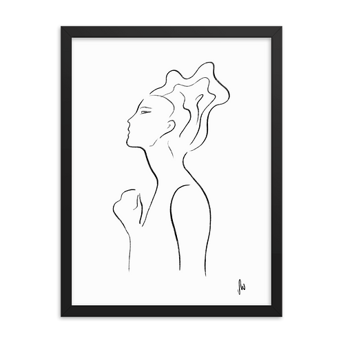 Senses Line Art Framed Poster