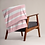 Thumbnail: HOP Fluffy Blanket Light Pink/White Striped