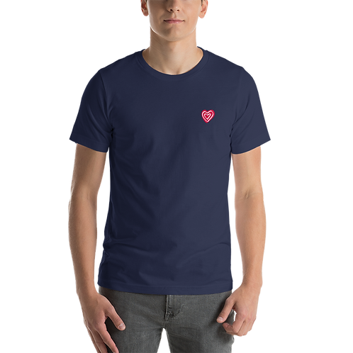 Big Heart Print Short-Sleeve Unisex T-Shirt
