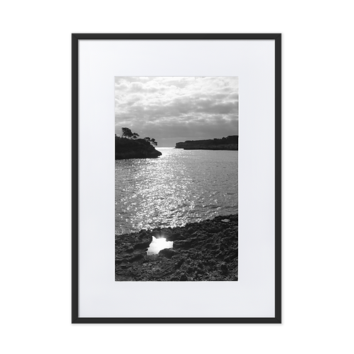 Reflect yourself. Even when you're shining. Matte Paper Framed Poster
