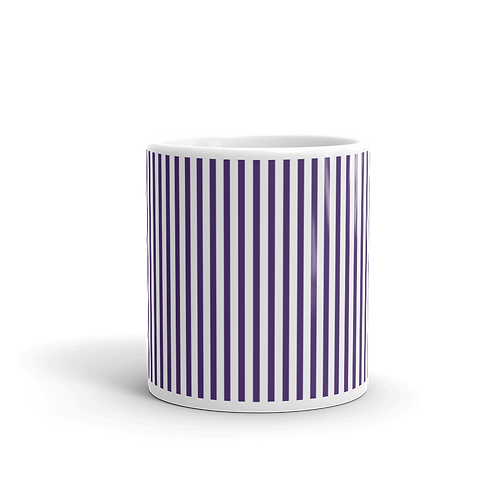 Violet Vertical Stripes Mug