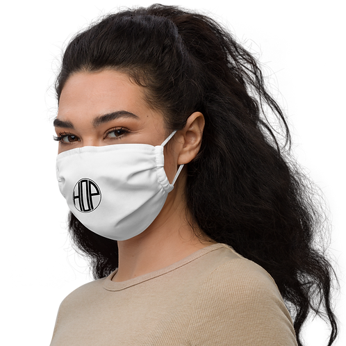HAUS OF PASSION Logo Face mask white