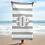 Thumbnail: Grey White Striped Towel