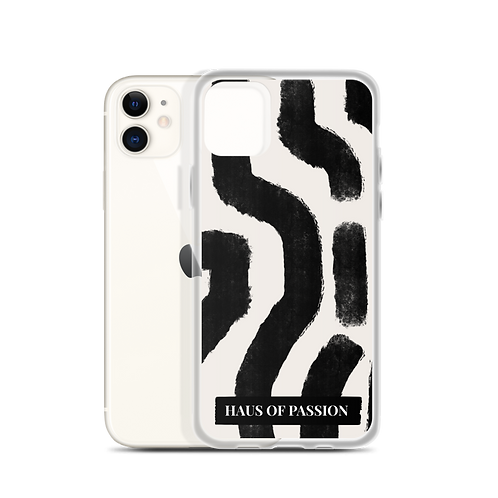 Pattern Black and White iPhone Case
