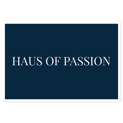 HAUS OF PASSION Navy Bubble-free stickers