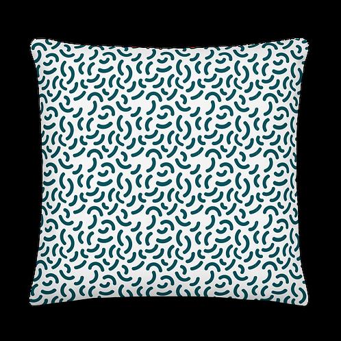 Crescent Pattern Petrol Premium Pillow