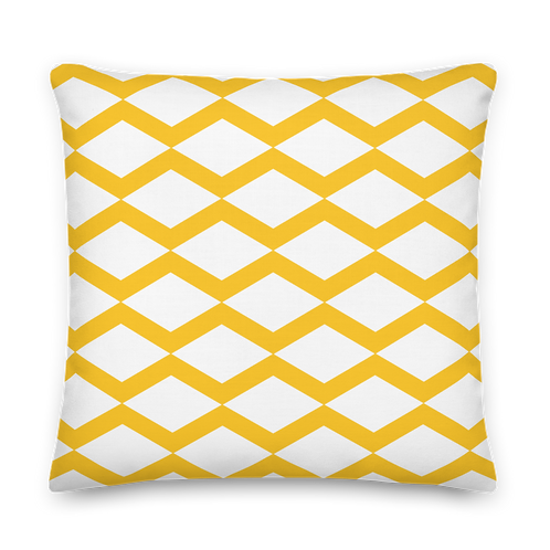Triangle Pattern Yellow Premium Pillow