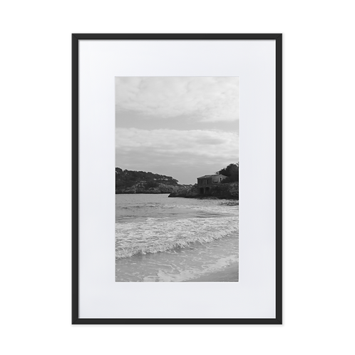 Living by the Beach Matte Paper Framed Poster