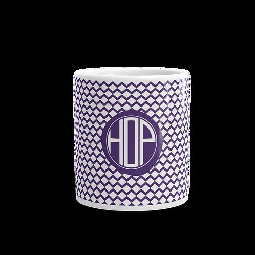 Violet Zig-Zag Pattern Mug