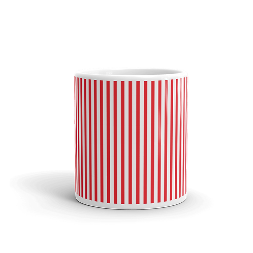Red Vertical Stripes Mug