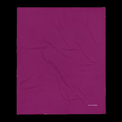Dark Pink Uni Throw Blanket