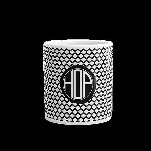 Black Zig-Zag Pattern Mug