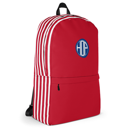Red/White Striped Backpack