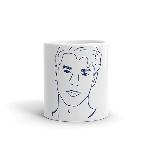 Handdrawn Navy Man Mug