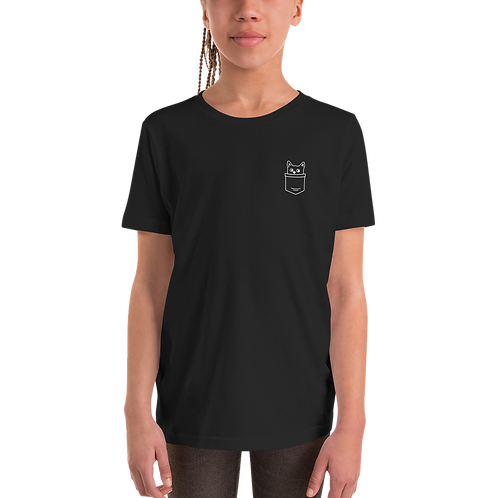 Pocket Cat Youth Short Sleeve T-Shirt
