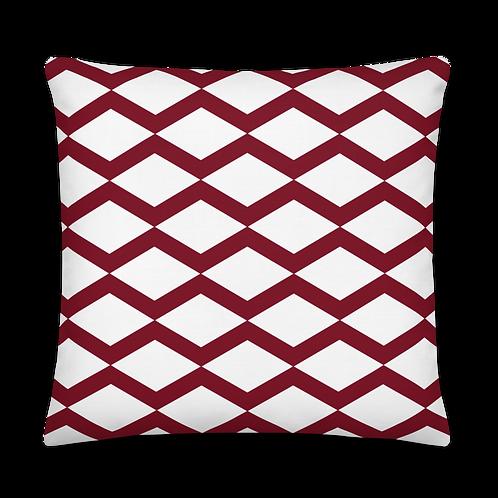 Triangle Pattern Dark Red Premium Pillow