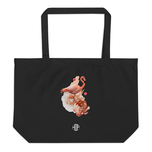 Flamingo Large organic tote bag