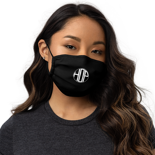 HAUS OF PASSION Logo Face mask Black
