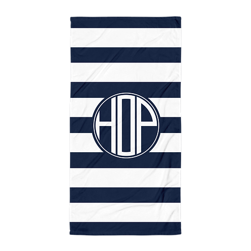 Club Thalassophile Towel Navy/White