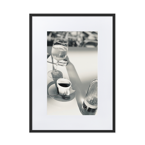 Coffee and Water Matte Paper Framed Poster