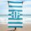 Thumbnail: Light Blue White Striped Towel