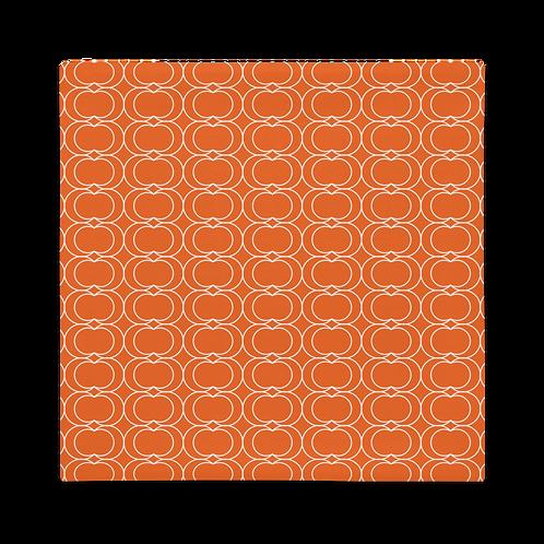 Orange/White Rings Premium Pillow Case