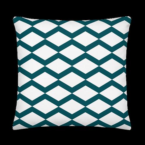 Triangle Pattern Petrol Premium Pillow