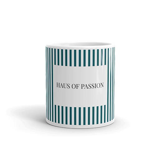 Vertical Stripes Dark Petrol Mug