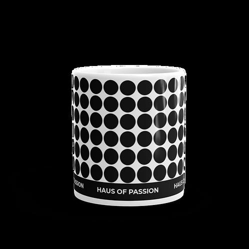 Endless Dots Black Mug