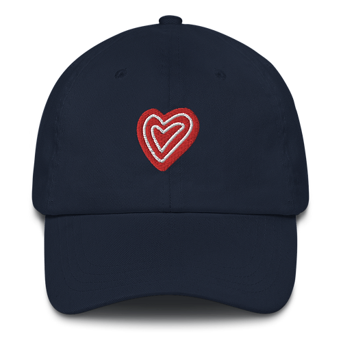 Heart Embroidery Dad hat