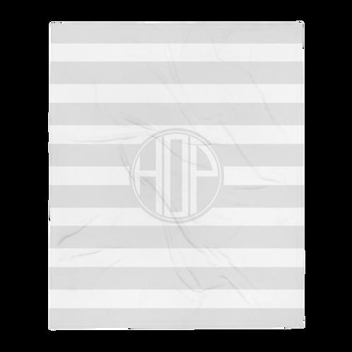 HOP Fluffy Blanket Light Grey/White