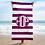 Thumbnail: Violet White Striped Towel