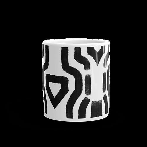Handdrawn Abstract Black Pattern Mug