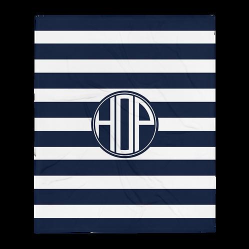Club Thalassophile Fluffy Blanket Navy/White