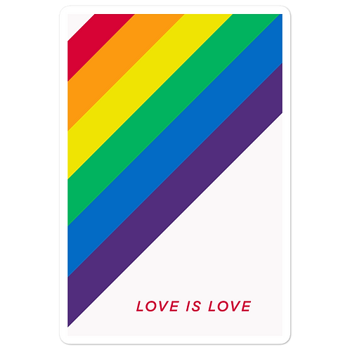 Love is Love Pride Bubble-free stickers