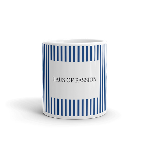 Vertical Stripes Royal Blue Mug