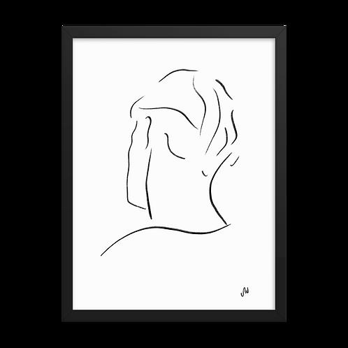Mystic Man Line Art Framed Poster