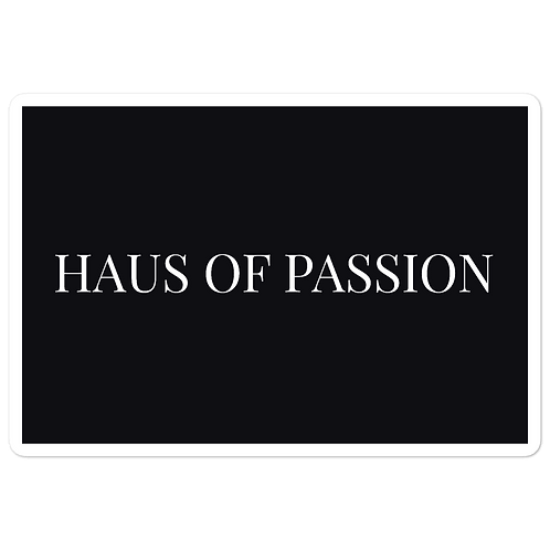 HAUS OF PASSION Black Bubble-free stickers