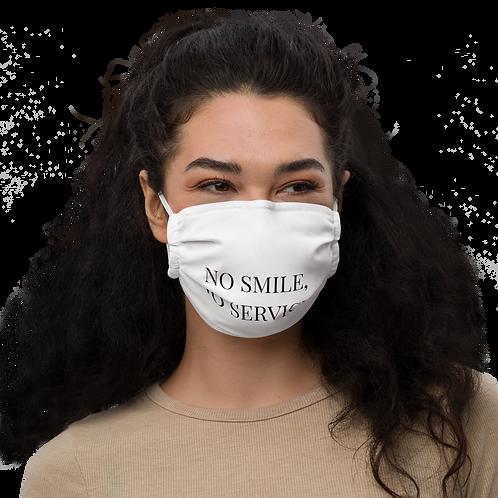 No Smile, No Service. Face mask