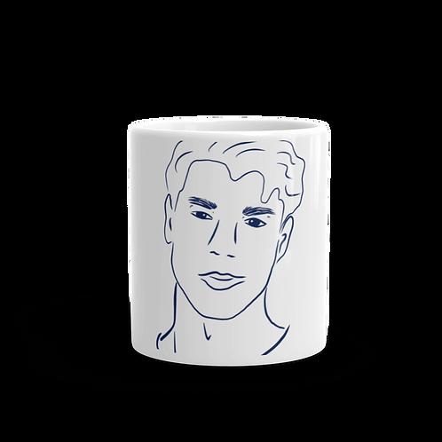 Handdrawn Navy Man Mug