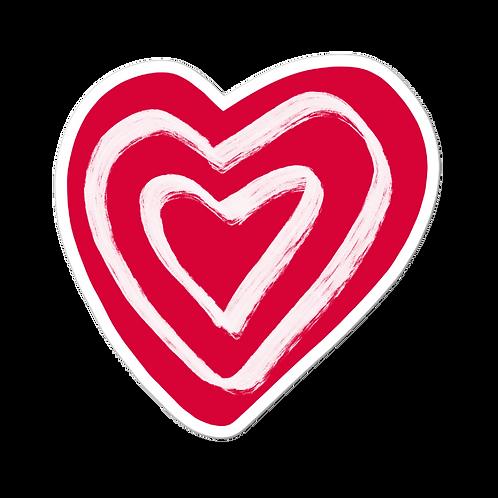 Heart Bubble-free stickers