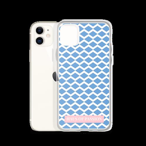 Light Blue/White Zig-Zag Pattern iPhone Case