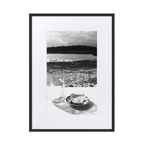 Nuts and Beach Matte Paper Framed Poster